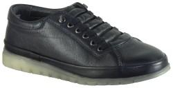 ISPARTALILAR - Goes Küçük Numara Hakiki Deri Siyah Erkek Ayakkabı (36-40)