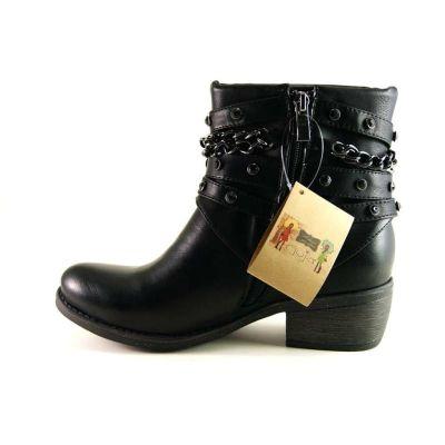 Guja 1007 Bayan Hafif Topuklu Optoprdi Fermuarlı Bot Ayakkabı