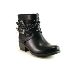 Guja 1007 Bayan Hafif Topuklu Optoprdi Fermuarlı Bot Ayakkabı - Thumbnail
