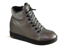 Guja - Guja 17k162 Rahat Gri Gizli Topuk Bayan Ayakkabı