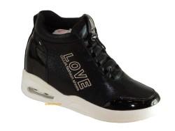 Guja - Guja 17k167 Rahat Siyah Gri Gizli Topuk Bayan Ayakkabı