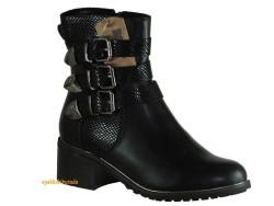 Guja - Guja 17k82 Rahat Siyah Kısa Topuk Bayan Bot Ayakkabı