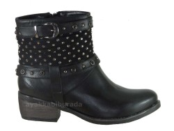 Guja - Guja 5454 Ortopedi Rahat Taban Siyah Bayan Bot Ayakkabı