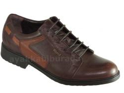 ISPARTALILAR - Güvenal1359 Rahat Taban Hakiki Deri Kahve Klasik Erkek Ayakkabı