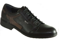 ISPARTALILAR - Güvenal1359 Rahat Taban Hakiki Deri Siyah Klasik Erkek Ayakkabı