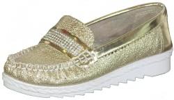 Vetta - Happy Box Ortopedi Kız Gümüş Çocuk Babet Ayakkabı (26-35)