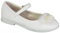 Happy Box Ortopedi Siyah Beyaz Kız Çocuk Babet Ayakkabı (21-36) - Thumbnail