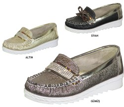 Vetta - Happy Box Ortopedi Siyah Kız Çocuk Babet Ayakkabı (26-35)