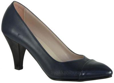 Ispa 101 Mat Lacivert Bayan Topuklu Ayakkabı (36-40)