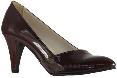 Ispa 101 Rugan Bordo Bayan Topuklu Ayakkabı (36-40)