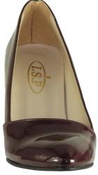 Ispa 101 Rugan Bordo Bayan Topuklu Ayakkabı (36-40) - Thumbnail