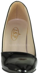 Ispa 101 Rugan Siyah Bayan Topuklu Ayakkabı (36-40) - Thumbnail
