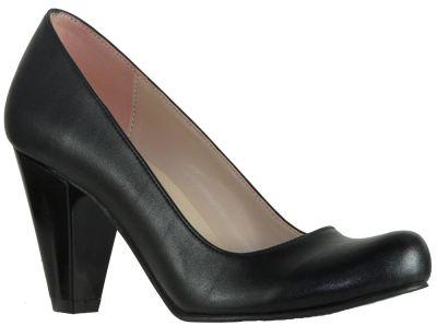 Ispa 11 Cilt Siyah Bayan Kısa Topuklu Ayakkabı (36-40)
