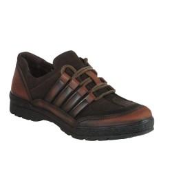ISPARTALILAR - Ispa 50 Deri Hazır Esnek Taban Erkek Günlük Ayakkabı Kahve