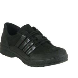 ISPARTALILAR - Ispa 50 Deri Hazır Esnek Taban Erkek Günlük Ayakkabı Siyah