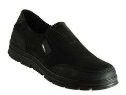 ISPARTALILAR - ıspa 555 Rahat Taban Siyah Deri KISLIK Erkek Ayakkabı Bot