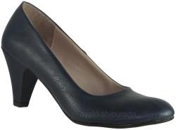 ISPARTALILAR - ISPA Lacivert Kısa Topuk Bayan Topuklu Ayakkabı (36-40) KAMPANYALI