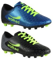 Walked - Walked Rahat Taban Futbol Siyah Erkek Krampon Ayakkabı (40-44)