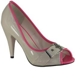ISPARTALILAR - (KAMPANYA) Guja Önü Açık Bayan Topuklu Ayakkabı (36-40)