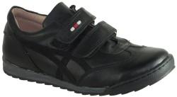 ISPARTALILAR - KAMPANYALI Efor 44 Siyah Hakiki Deri Cırtlı Erkek Çocuk Ayakkabı