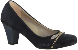 ISPARTALILAR - La Moor 018 Lacivert Bayan Kısa Topuklu Ayakkabı (36-40)
