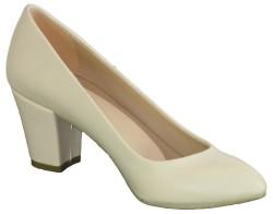 La Moor 101 Siyah Ve Krem Kısa Topuk Bayan Topuklu Ayakkabı (36-40) - Thumbnail