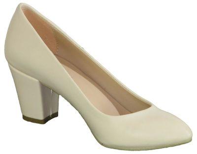 La Moor 101 Siyah Ve Krem Kısa Topuk Bayan Topuklu Ayakkabı (36-40)