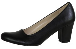 La Moor 102 Siyah Kısa Topuk Bayan Topuklu Ayakkabı (36-40) - Thumbnail