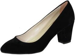 ISPARTALILAR - La Moor Nubuk Siyah Kısa Bayan Topuklu Ayakkabı (36-40)