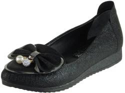 ISPARTALILAR - La Moor Ortopedi Cilt Siyah Bayan Babet Ayakkabı (36-40)
