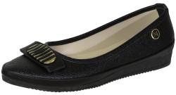 ISPARTALILAR - La Moor Ortopedi Günlük Bayan Siyah Babet Ayakkabı (36-40)
