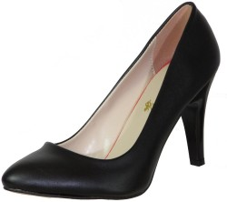 ISPARTALILAR - La Moor Rahat Cilt Siyah Bayan Topuklu Ayakkabı (36-40)