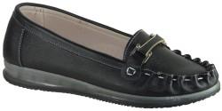 ISPARTALILAR - La Moor Rahat Günlük Bayan Siyah Babet Ayakkabı (36-40)