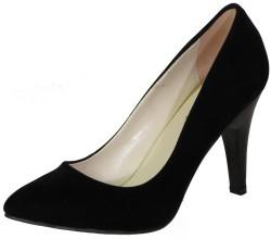 ISPARTALILAR - La Moor Rahat Nubuk Siyah Bayan Topuklu Ayakkabı (36-40)
