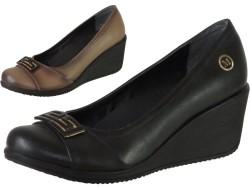 Mavişim - Mavişim 21 Dolgu Taban Siyah Bayan Günlük Ayakkabı (36-40)