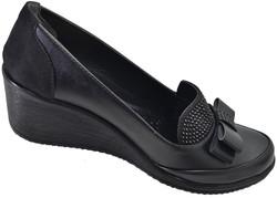 Mavişim 33 Dolgu Taban Siyah Kadın Günlük Ayakkabı (36-40) - Thumbnail