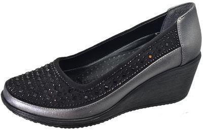 Mavişim 34 Dolgu Taban Siyah Kadın Günlük Ayakkabı (36-40)