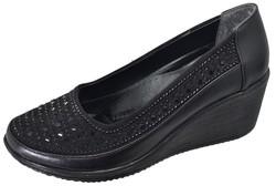Mavişim - Mavişim 34 Dolgu Taban Siyah Kadın Günlük Ayakkabı (36-40)