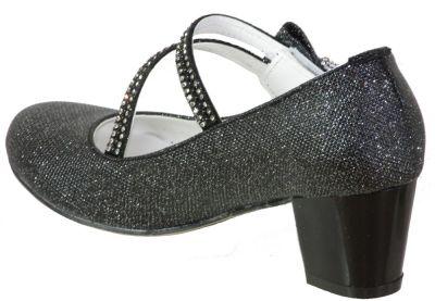 Mini Women Abiye Düğünlük Kız Çocuk Topuklu Ayakkabı (26-36)