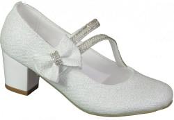 Mini Women Abiye Pudra Çocuk Kız Topuklu Ayakkabı (26-36) - Thumbnail