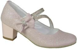 ISPARTALILAR - Mini Women Abiye Pudra Çocuk Kız Topuklu Ayakkabı (26-36)