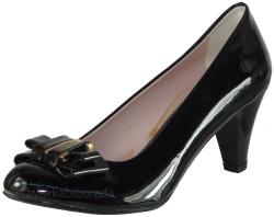 ISPARTALILAR - Pasifik 111 Siyah Rugan Bayan Topuklu Ayakkabı (36-40) KAMPANYALI
