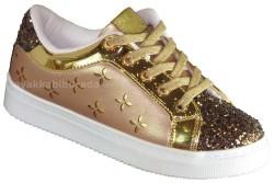 Pinokyo - Pinokyo 1207 Ortopedi Altın Kız Çocuk Spor Ayakkabı (30-35)