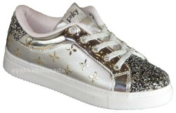 Pinokyo - Pinokyo 1207 Ortopedi Gümüş Kız Çocuk Spor Ayakkabı (30-35)