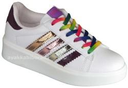 Pinokyo - pinokyo 186 Ortopedi Beyaz Kız Çocuk Spor Ayakkabı (30-35)