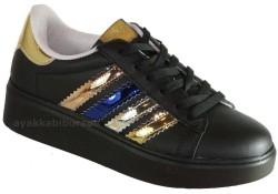 Pinokyo - pinokyo 186 Ortopedi Siyah Kız Çocuk Spor Ayakkabı (30-35)