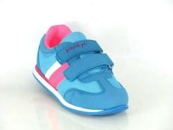Pinokyo - Pinokyo 2032 Ortopedi Taban Kız Cırtlı Çocuk Spor Ayakkabı