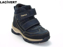 Pinokyo - Pinokyo 6078 Ortopedi Siyah Lacivert Çocuk Bot Ayakkabı