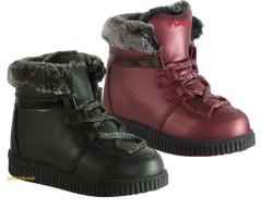 Pinokyo - Pinokyo 7058 Bordo Siyah Rahat Taban Kız Çocuk Bot Ayakkabı