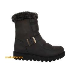 Pinokyo - Pinokyo Siyah Rahat Kışlık Çocuk Bot Bayan Bot Ayakkabı (26-38)